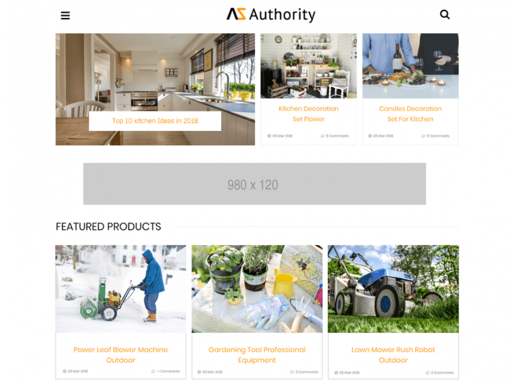Free Azauthority WordPress theme
