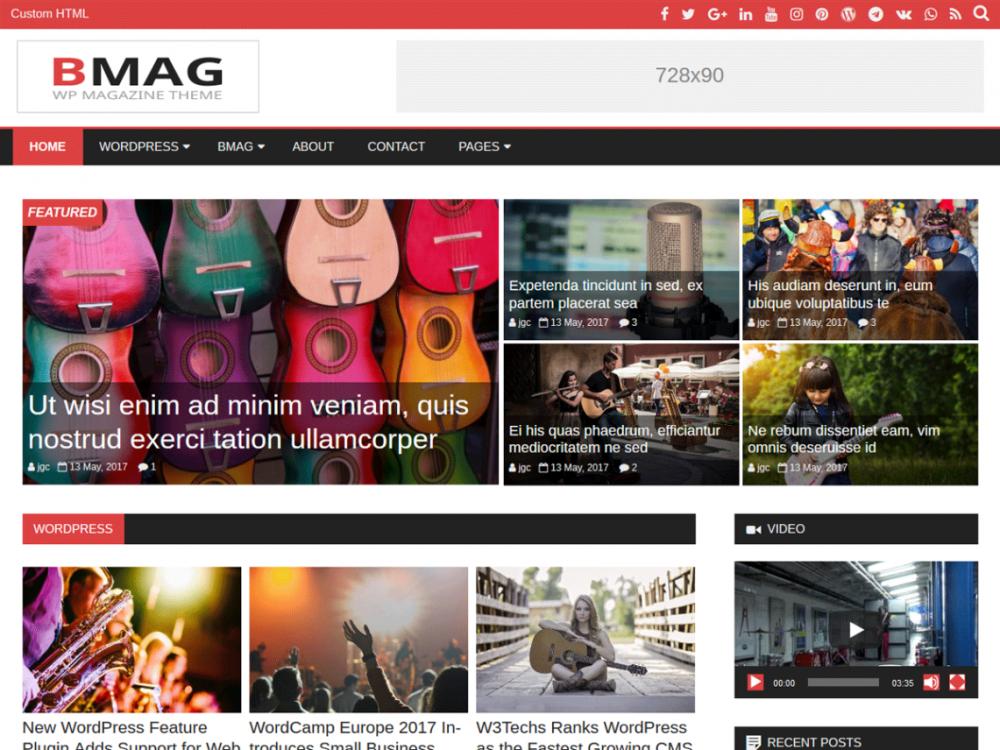 Free BMag WordPress theme