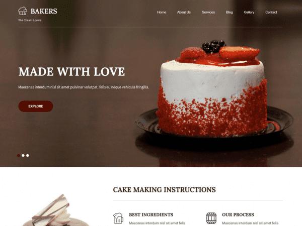 Free Bakers Lite WordPress theme