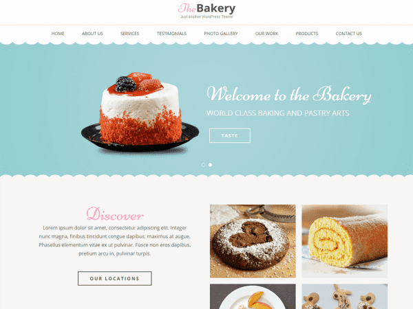 Free Bakes and Cakes Wordpress theme