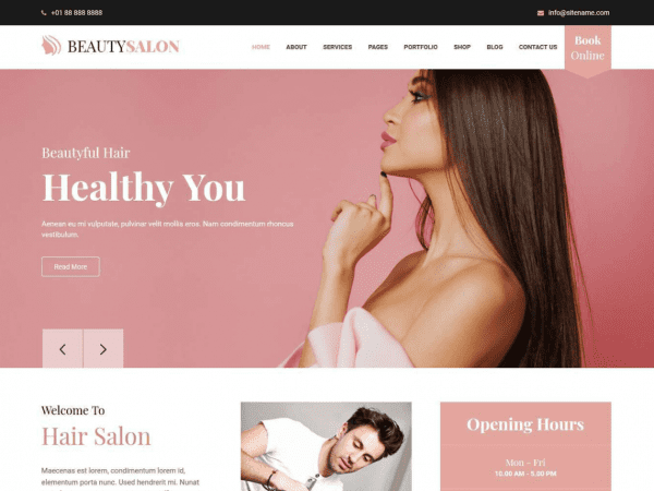 Free Belleza WordPress theme
