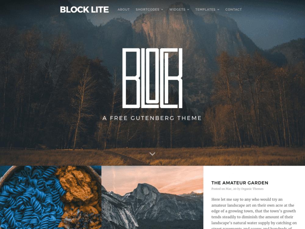 Free Block Lite WordPress theme