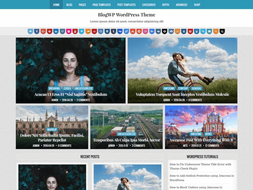 Free BlogWP Wordpress theme
