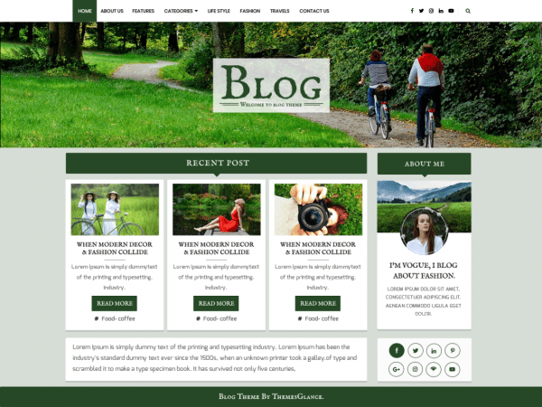 Free Blogger Base WordPress theme