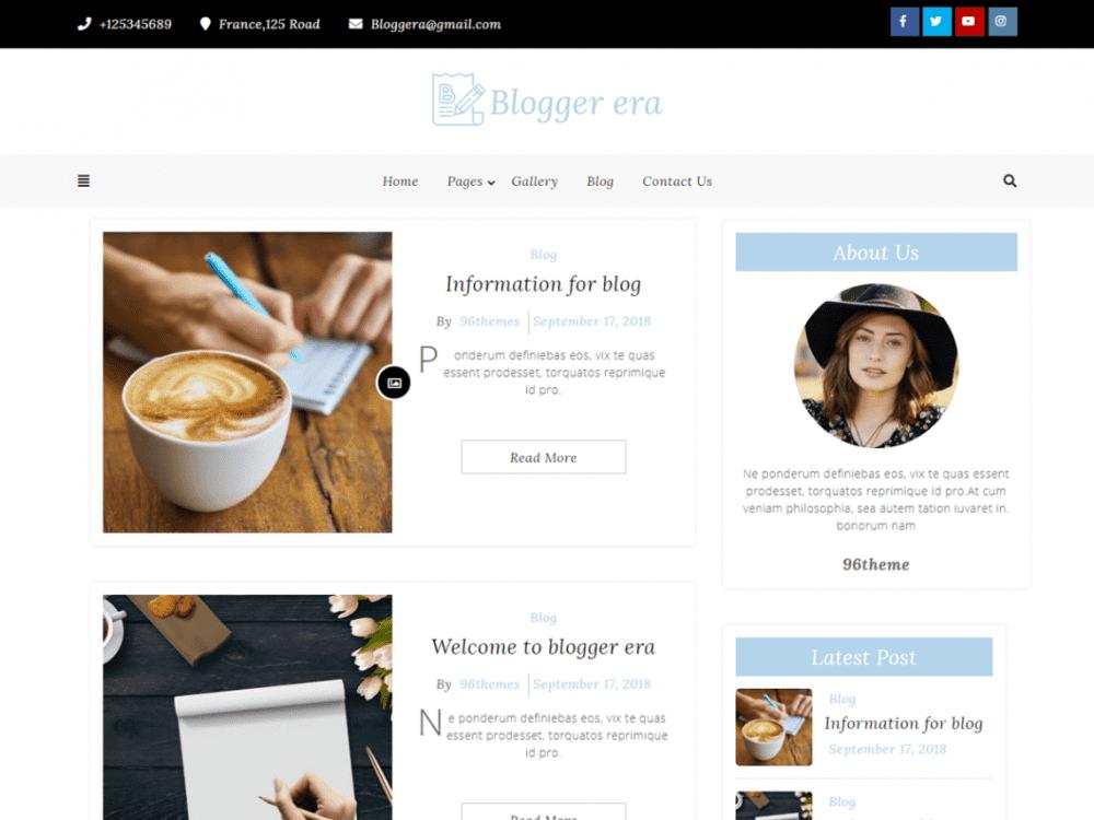 Free Blogger Era WordPress theme