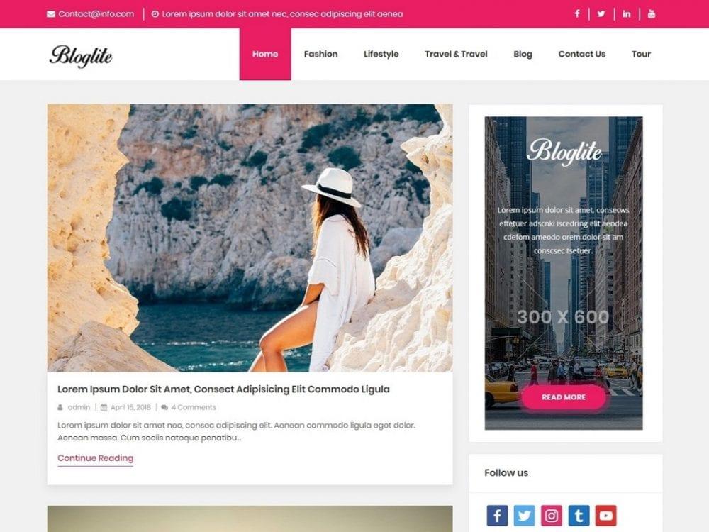 Free Bloglite WordPress theme
