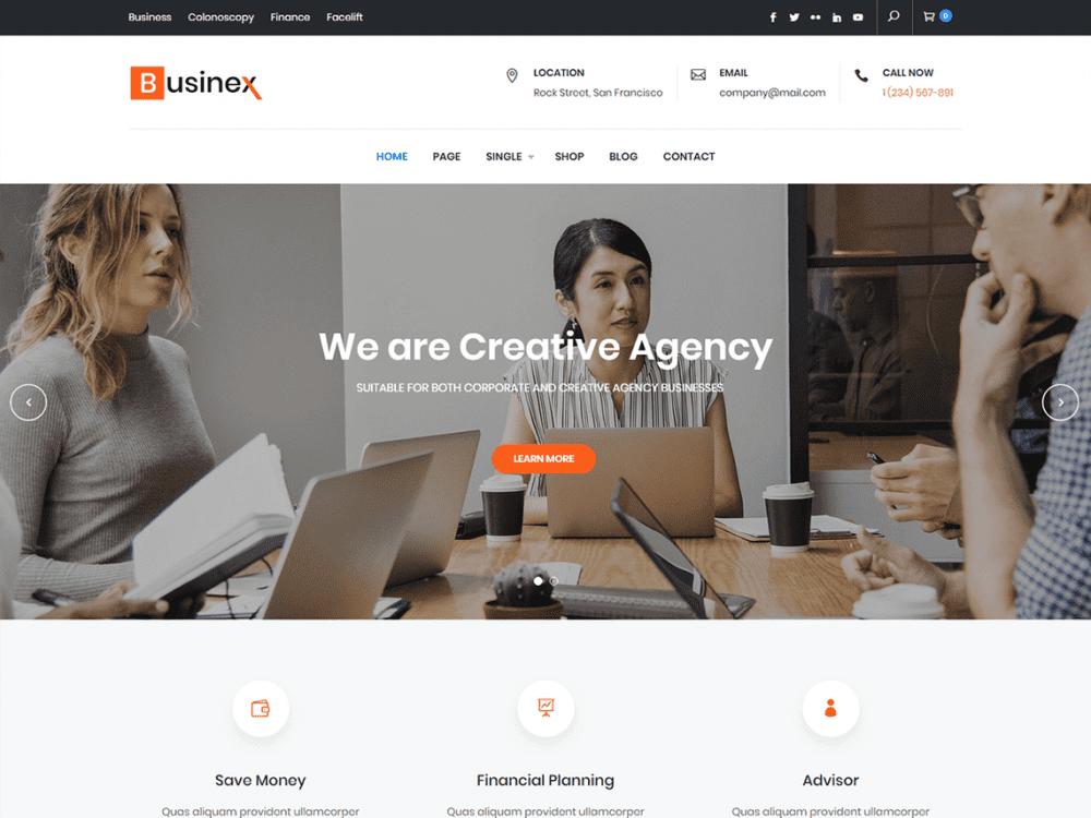 Free Businex WordPress theme