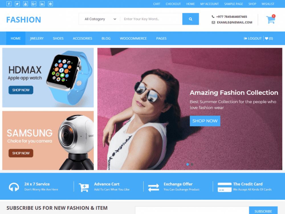 Free Buzstores WordPress theme