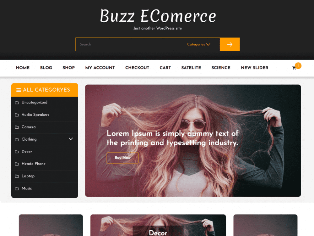Free Buzz-Ecommerce WordPress theme