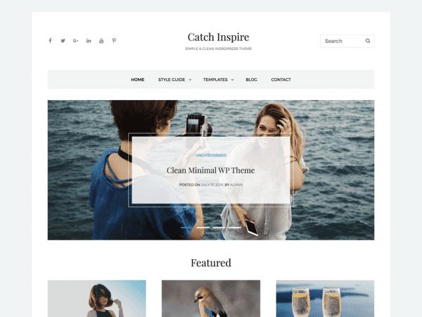Free Catch Inspire WordPress theme