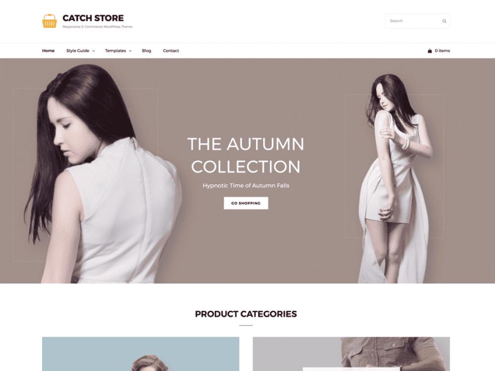 Free Catch Store WordPress theme