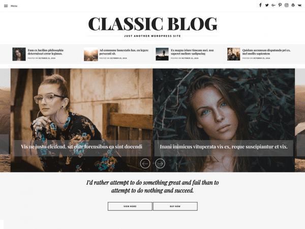 Free Classic Blog WordPress theme