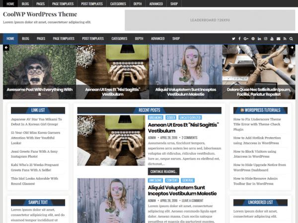 Free CoolWP WordPress theme