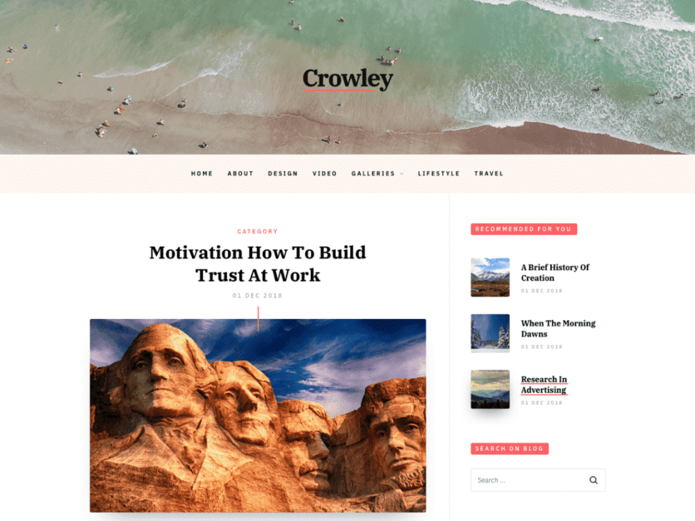 Free Crowley WordPress theme