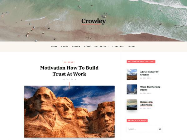 Free Crowley WordPress theme
