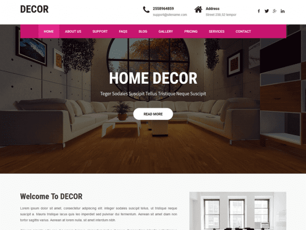 Free Decor Lite WordPress theme
