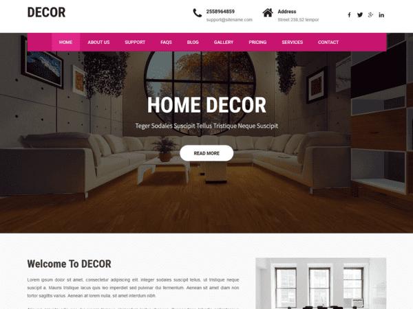 Free Decor Lite WordPress theme