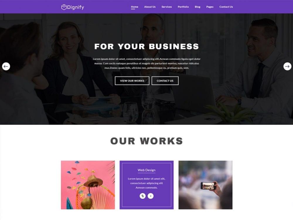Free Dignify WordPress theme