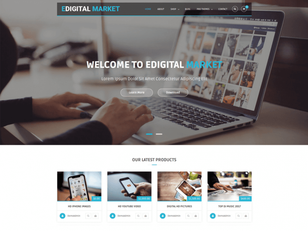 Free EDigital Market WordPress theme