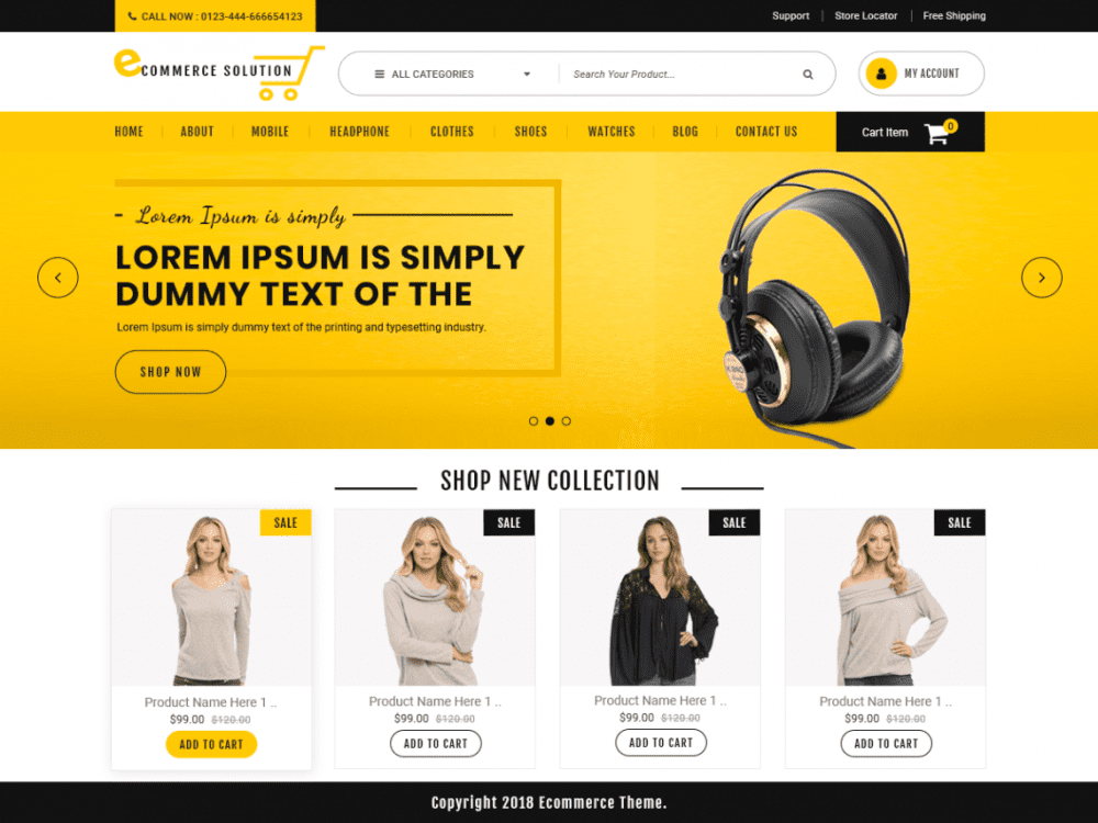 Free Ecommerce Solution WordPress theme