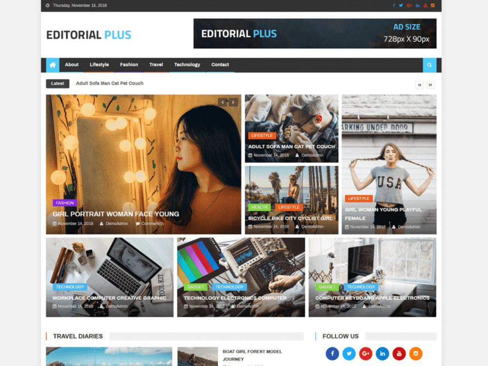 Free Editor Plus WordPress theme