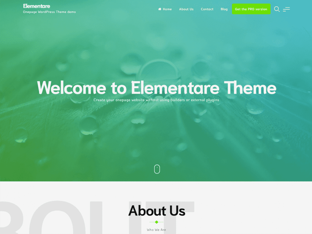 Free Elementare Wordpress theme