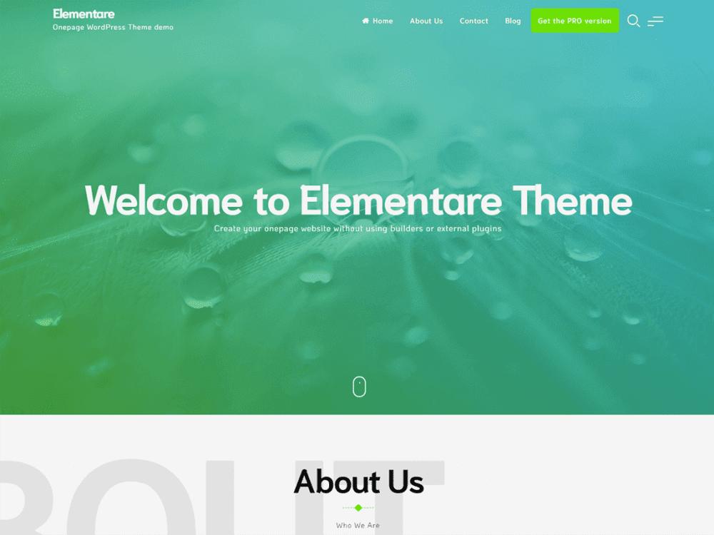 Free Elementare Wordpress theme