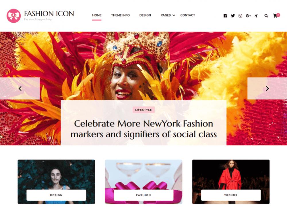 Free Fashion Icon WordPress theme