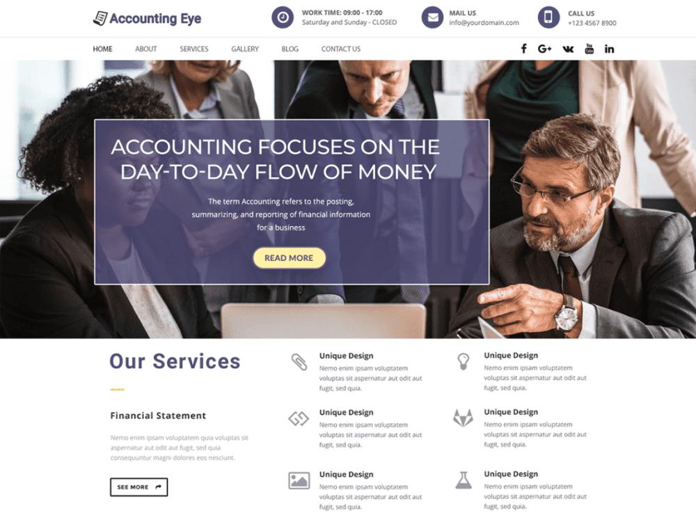 Free Finance Accounting WordPress theme