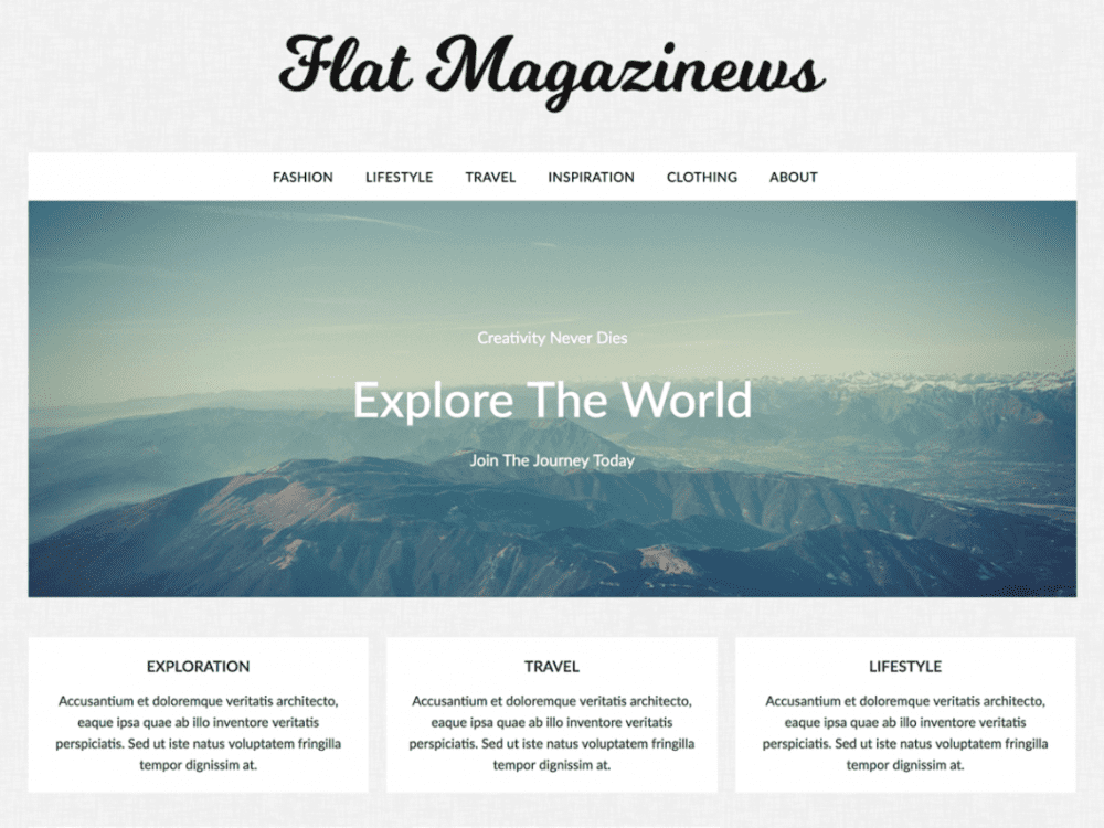 Free FlatMagazinews WordPress theme