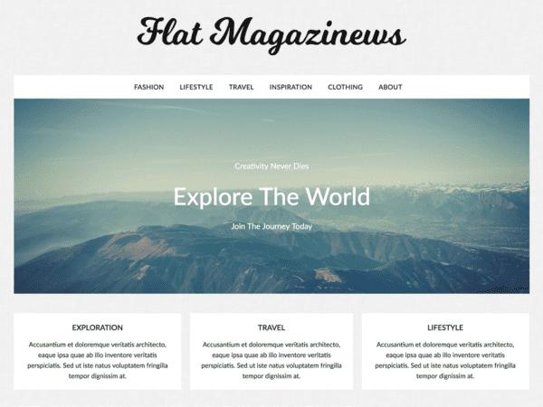Free FlatMagazinews WordPress theme
