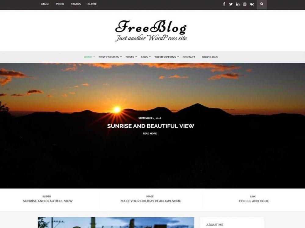 Free Free Blog WordPress theme