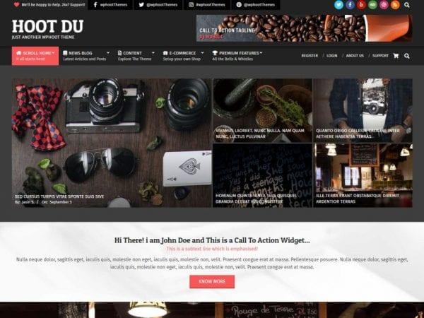 Free Hoot Du WorddPress theme