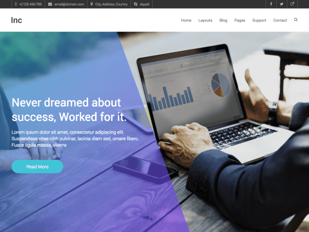 Free Inc WordPress theme
