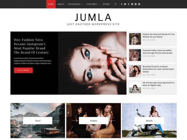 Free Jumla WordPress theme