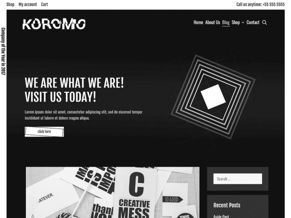Free Koromo WordPress theme