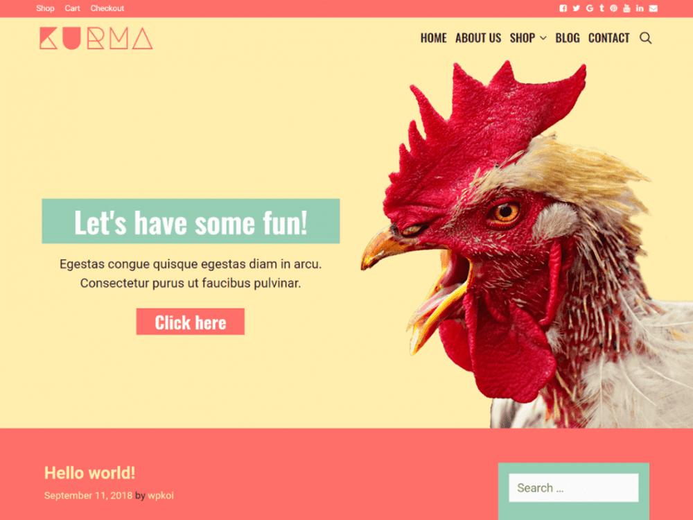 Free Kurma WordPress theme