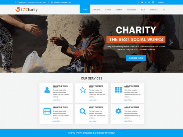 Free LZ charity Welfare WordPress theme