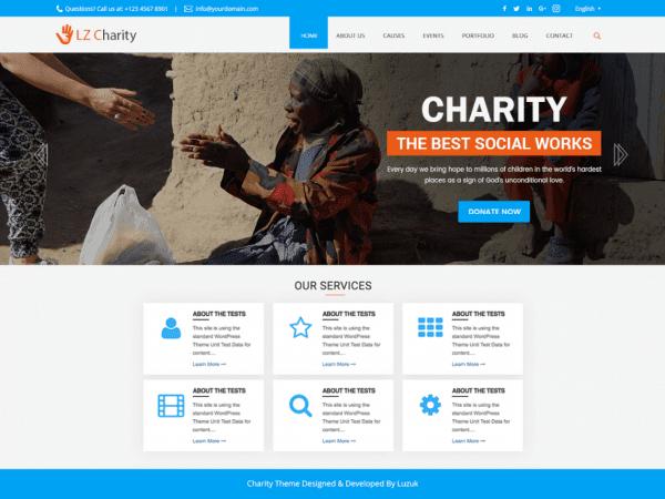 Free LZ charity Welfare WordPress theme