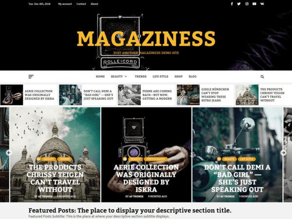 ree Magaziness WordPress theme