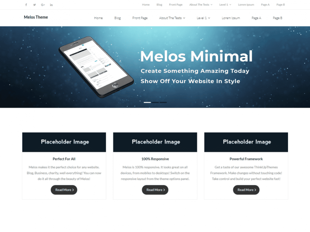 Free Melos Minimal WordPress theme