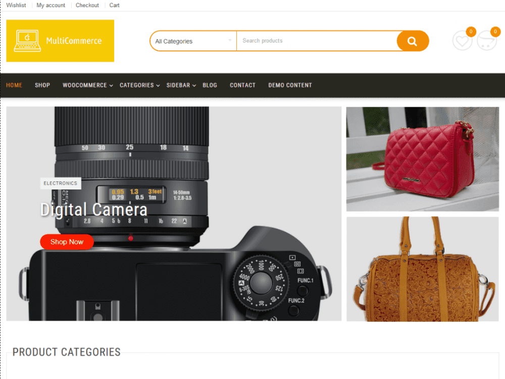 Free Multicommerce WordPress theme