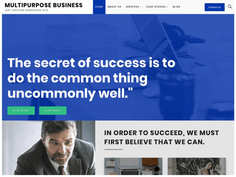 Free Multipurpose Business WordPress theme