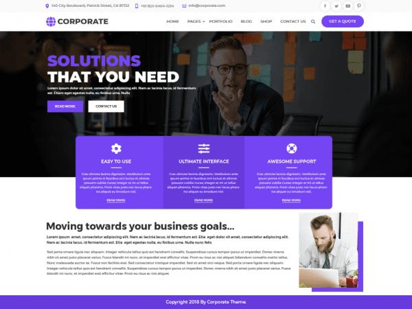 Free Multipurpose Corporate WordPress theme