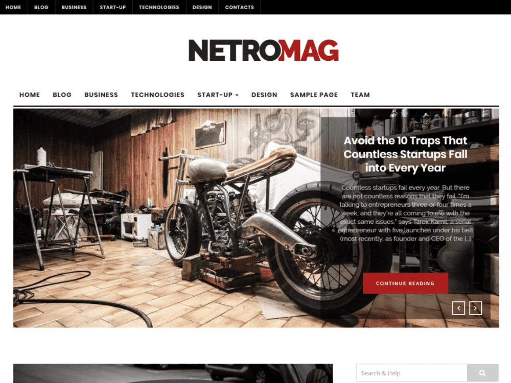 Free NetroMagWordPress theme