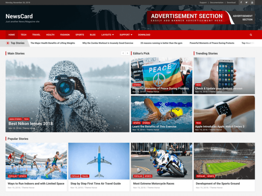 Free NewsCard WordPress theme