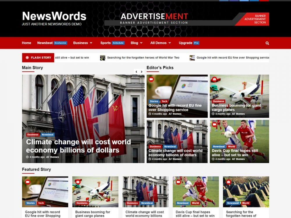 Free NewsWords WordPress Theme