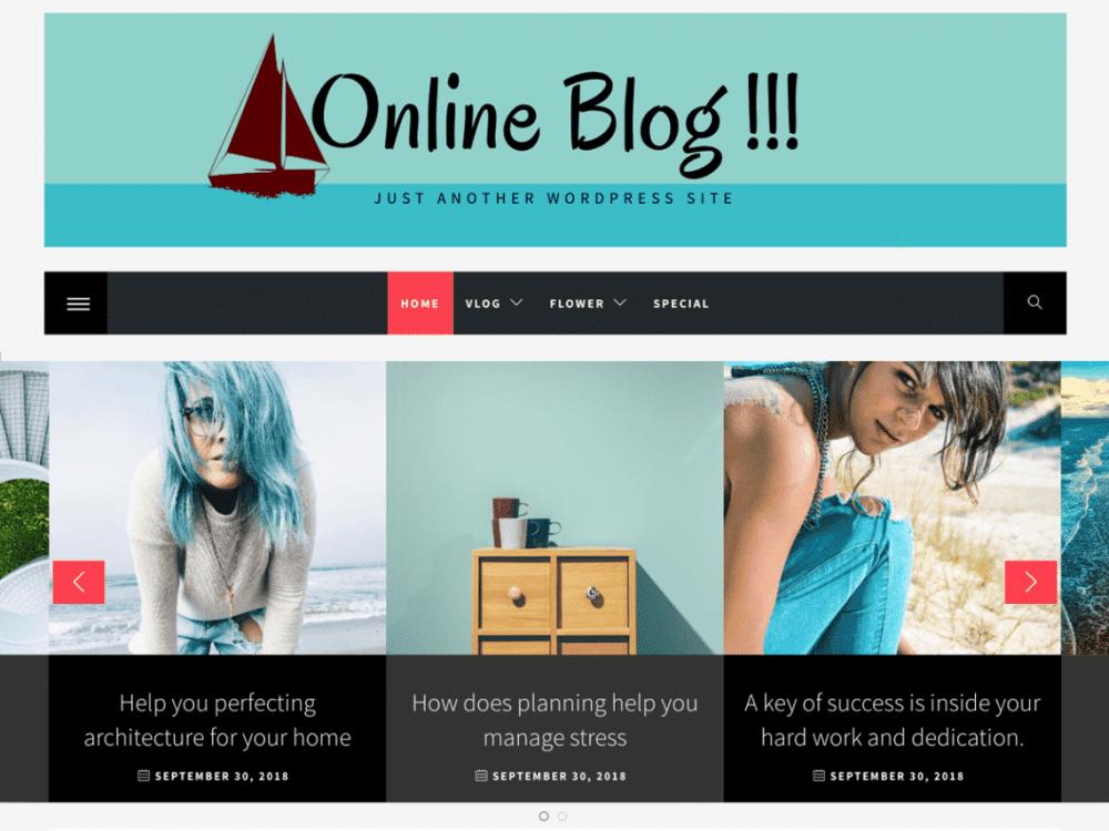 Free Online Blog WordPress theme