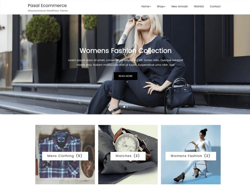 Free Pasal Ecommerce WordPress theme