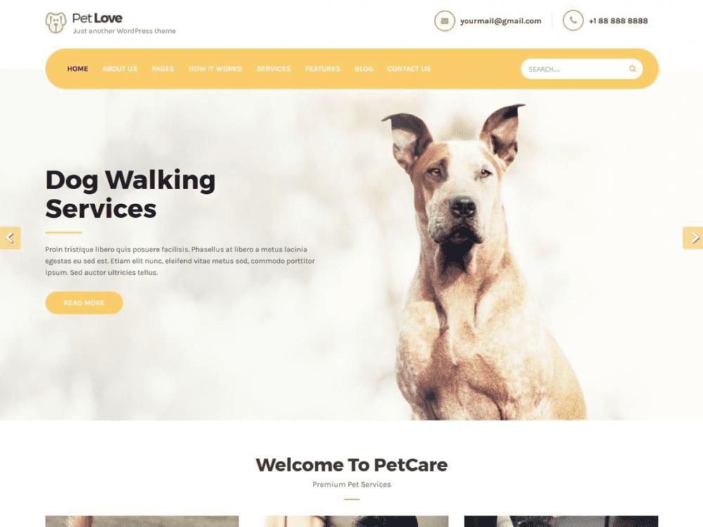 Free Petlove WordPress theme